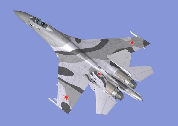 sukhoi airplane fighter 3d model