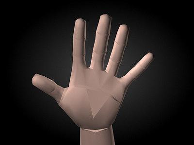 3d model realistic male human hand