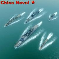 openflight navy destroyer ship 3d model