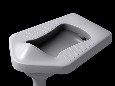 squatting pan 3d max