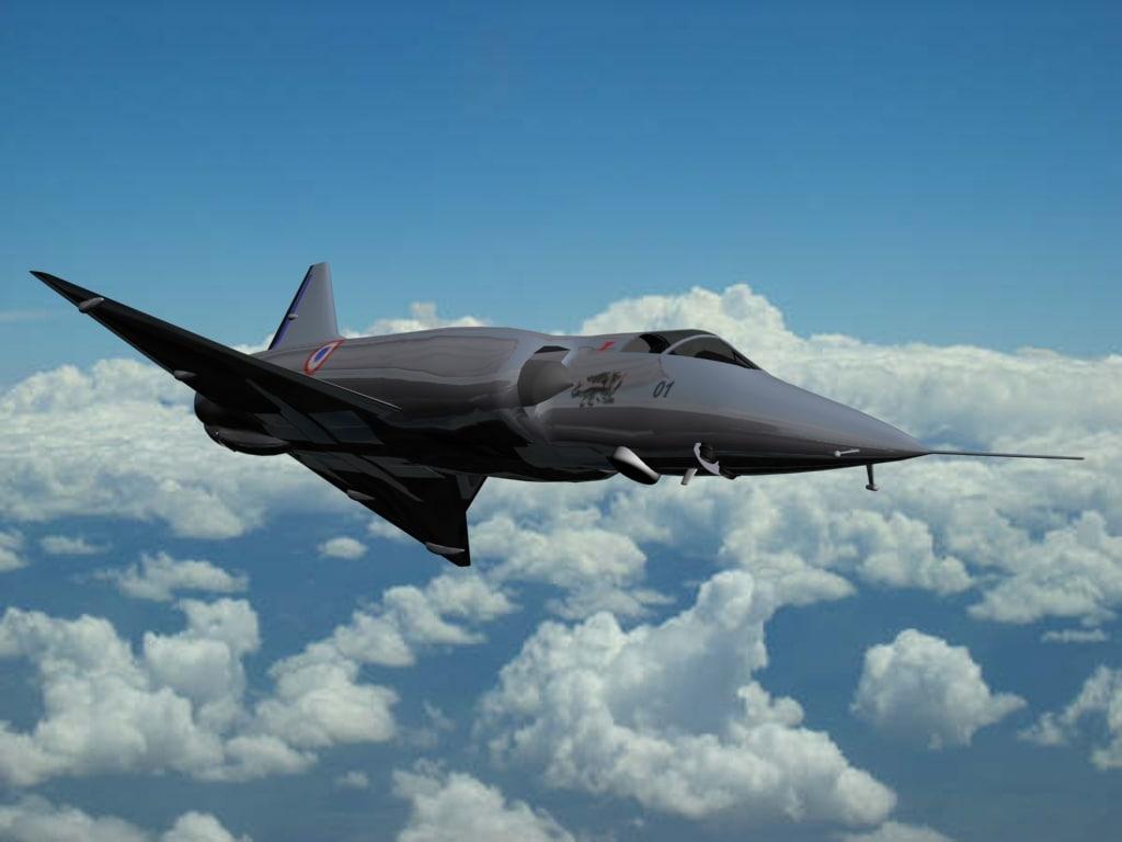 dassault mirage iiiv plane 3d model