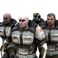 sci-fi trooper male 3d max