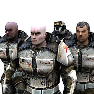 sci-fi trooper male 3d max