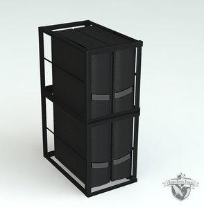 3d computer rack model