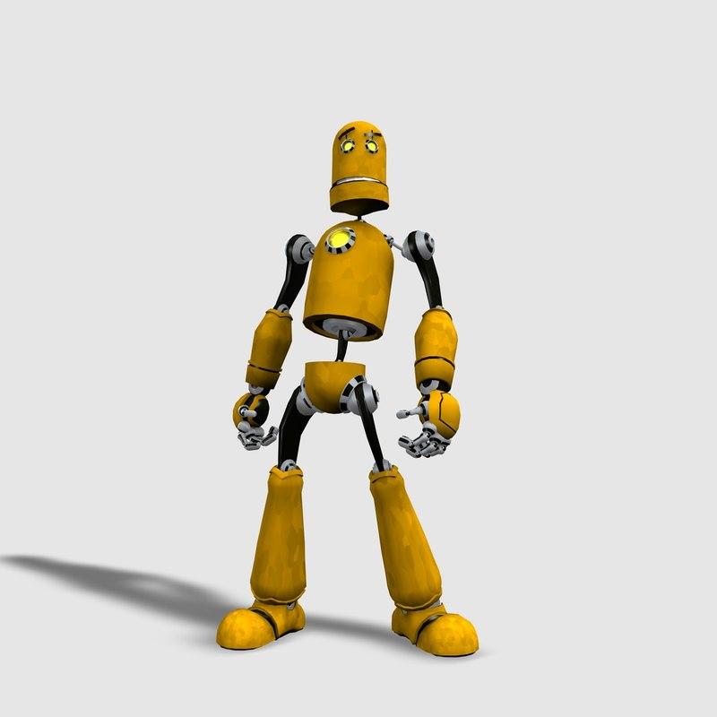 robot character c4d