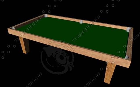 pool table 3d model