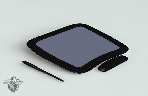 drawing tablet 3d model