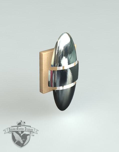 3d model designer wall sconce lighting