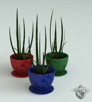 3ds max decorative aloe plant