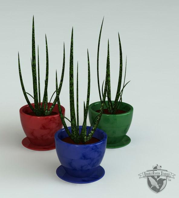 3ds max decorative aloe plant