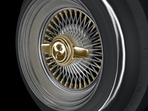 lowrider wheel car 3d model