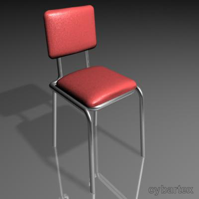 3d model cafe table chair
