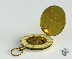 3ds max antique pocketwatch