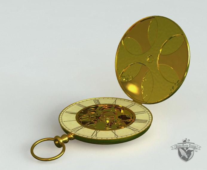 3ds max antique pocketwatch