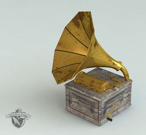 antique phonograph 3d model