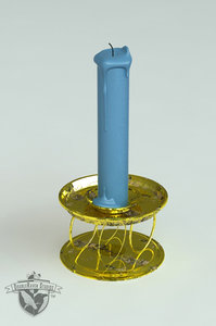 antique candle 3d model