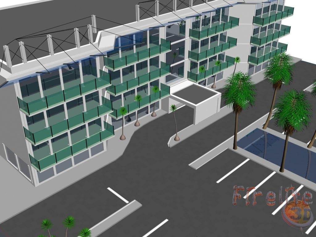 unit condo building 3d model
