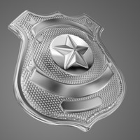 police badge obj
