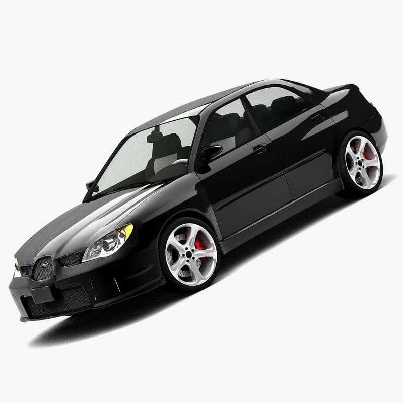 3d model subaru impreza 2006 sedan