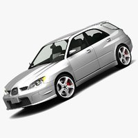subaru impreza 2006 wagon 3d model