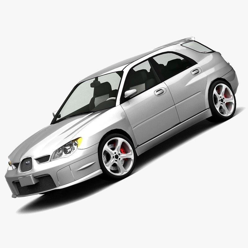 subaru impreza 2006 wagon 3d model