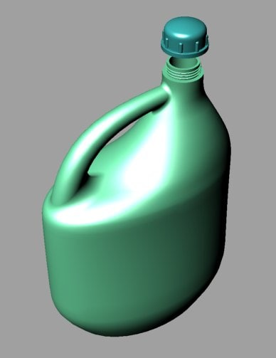 plastic container bottle 3d model