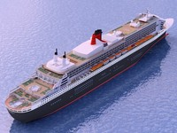 queen mary ship 3d model