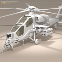 3dsmax agusta a129 mangusta helicopter