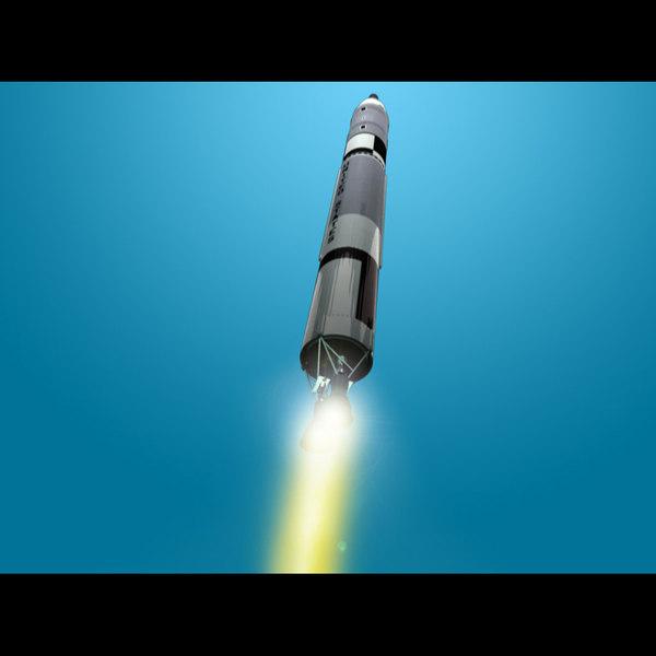 titan launch vehicle gemini 3d model