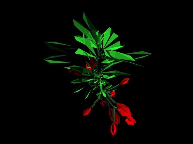 3d plants bush model