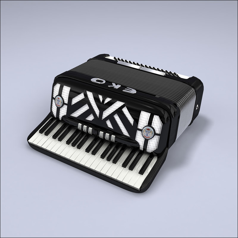 3d accordion keyboard model