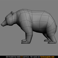 Bear 3d model low poly