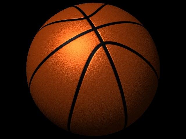 3d basketball ball basket