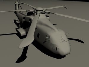 3d merlin helicopter model