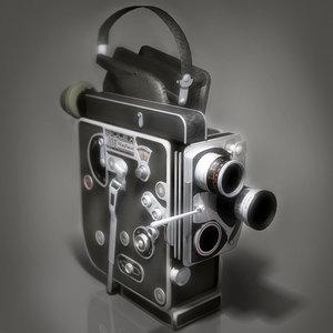 paillard bolex 16mm film camera 3d model