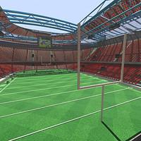 3d stadium football ball
