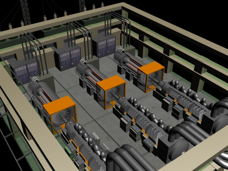 3d power plant steam turbines