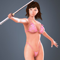 revina realistic female 3d model