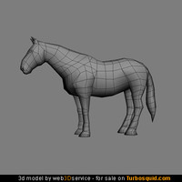 3ds polygonal horse heavy