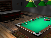 3D Pool Scene