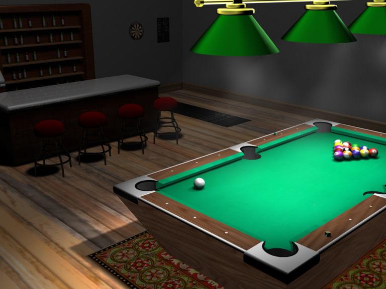 pool scene 3d model