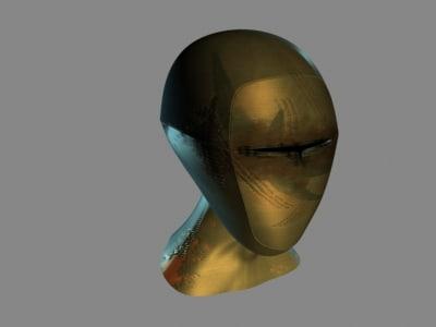 3d modelled face