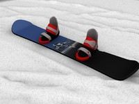3d snowboard snow board model