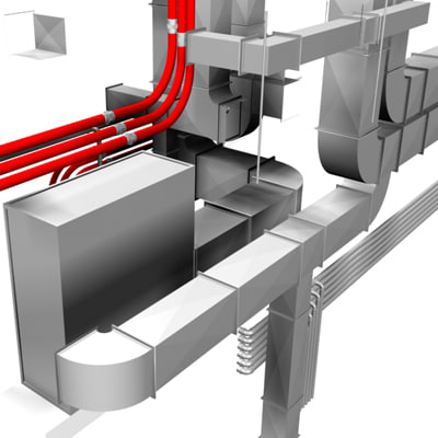 air conditioning industrial 3d model