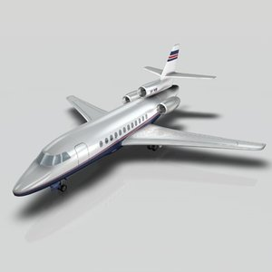 3d dassault falcon 900