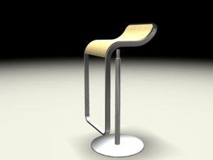 3d model lem piston stool