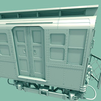 3d subway train car model