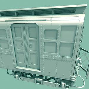 3d subway train car model