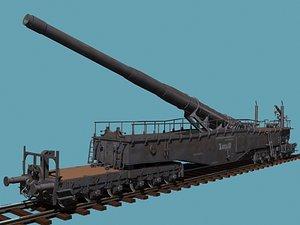 german railroad wwii 3d model