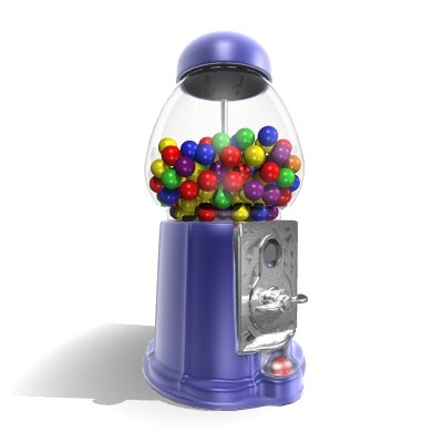 gumball machine candy dispenser 3d model